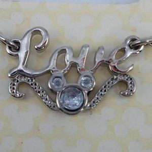 Disney LOVE Mickey Necklace NIP